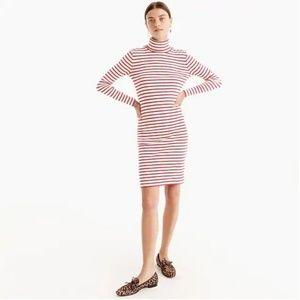 J.Crew Striped Turtleneck dress